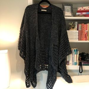 Anthropologie | Grey Knit Shawl/Wrap/Sweater